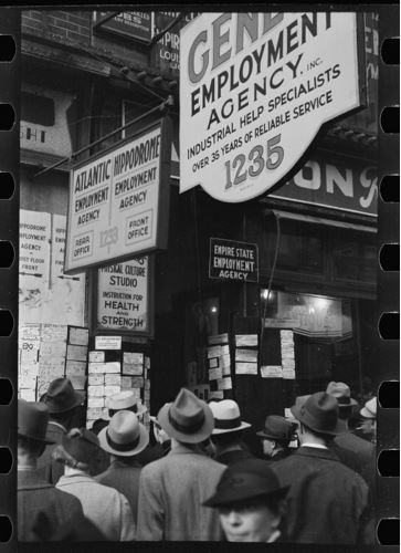 Arthur Rothstein, Employment agency, Sixth Avenue, New York, New York, 1937