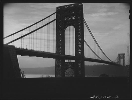 Arthur Rothstein, George Washington Bridge from New York City side, 1941